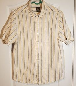MENS PRANA BUTTON DOWN SHIRT SIZE LARGE